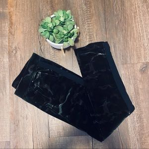Pam and Gela Velvet Camo Track Pants Sz Small